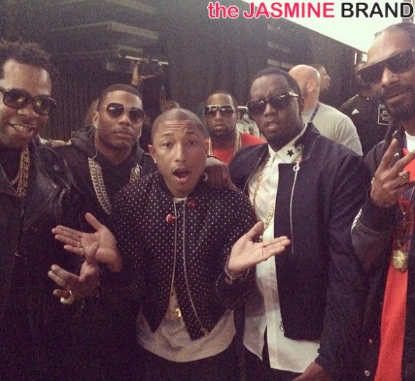 busta rhymes-nelly-pharrell-diddy-snoop-celebs all star weekend 2014-the jasmine brand