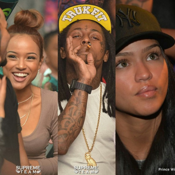 celebrity club spottings-karrueche-lil wayne-cassie-2014-the jasmine brand