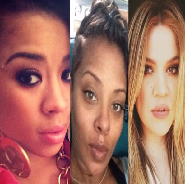 celebrity selfies-khloe kardashian-eva marcille-keyshia cole-the jasmine brand