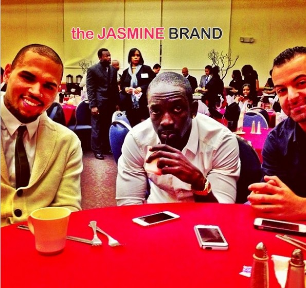 chris brown-makes appearance-2nd call community award 2014-the jasmine brand