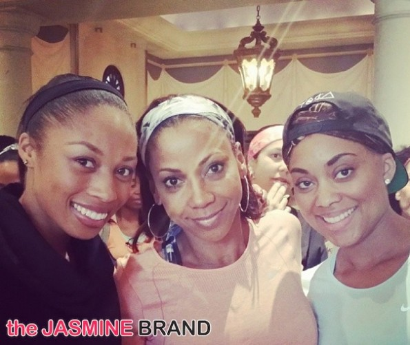jada paul-holly robinson peete-essence red carpet-move more-world fit for kids 2014-the jasmine brand