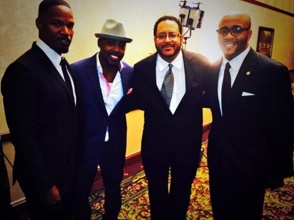 jamie foxx-will packer-michael eric dyson-trayvon martin foundation dinner 2014-the jasmine brand