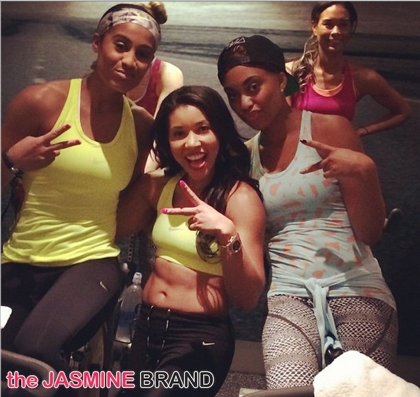 Black Girls Sweat! Celebs Team Up For Yoga & Soul Cycle: Jeanette Jenkins, Kelly Rowland, Skylar Diggins & More