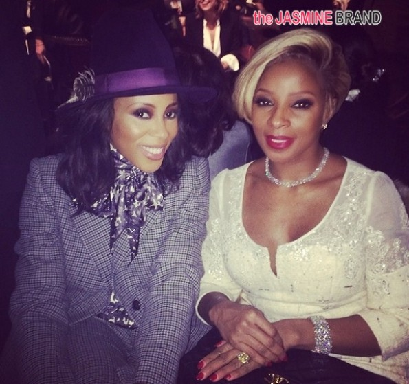 june ambrose-mary j blige-new york fashion week 2014-the jasmine brand