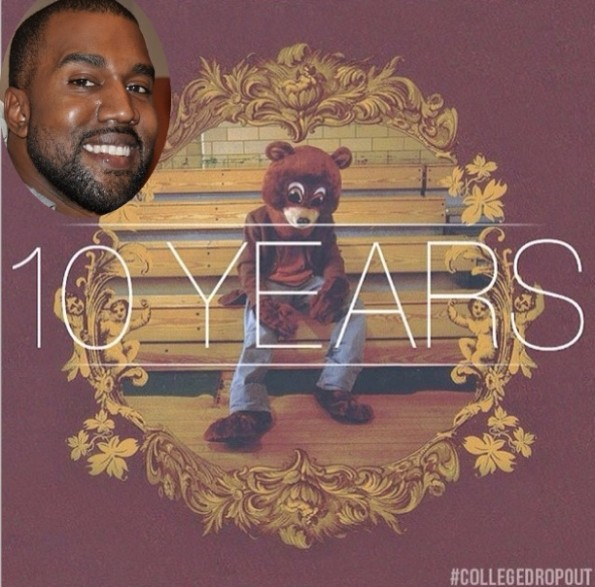 kanye west-celebrates college dropout 10 years-the jasmine brand