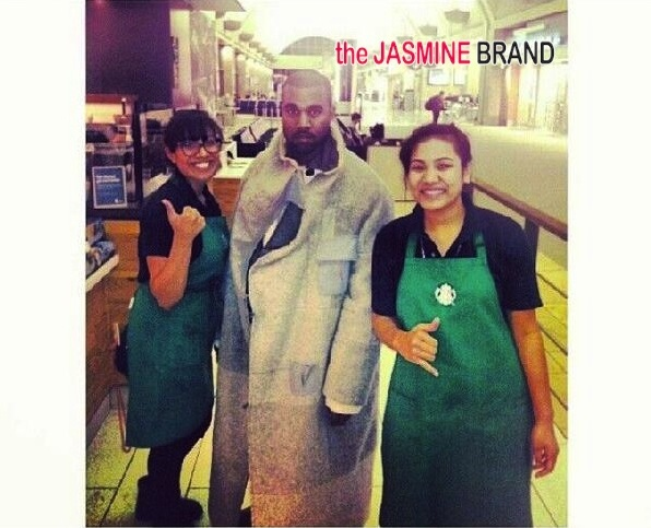 [FAN LOVE] Kanye West Shows Starbucks Employees Love: 'I made his Frappuccino!'