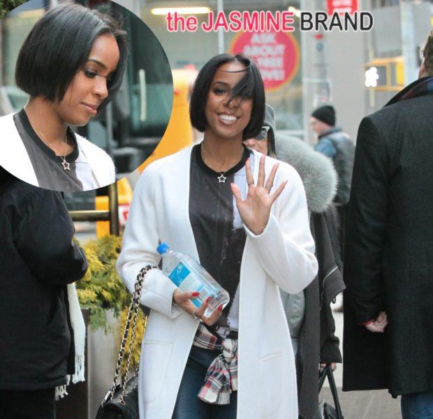 [Photos] Kelly Rowland Debuts New Short Bob During New York Fashion Week