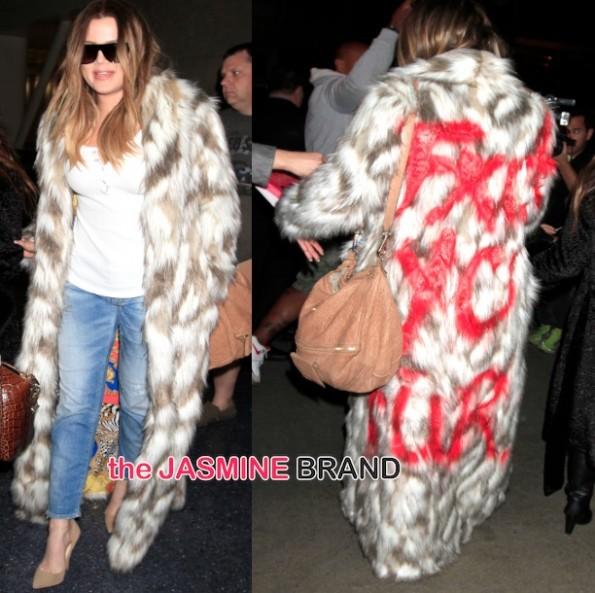 khloe kardashian-fck yo fur-anti PETA-the jasmine brand