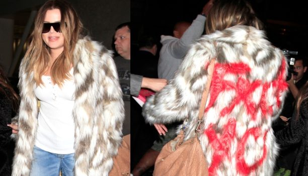 Khloé Kardashian Uses Profanity & Fake Blood to Taunt Fur Lovers, Kim Included