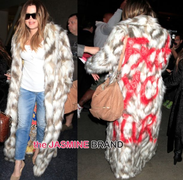 Khloé Kardashian Uses Profanity & Fake Blood to Taunt Fur Lovers, Kim Included