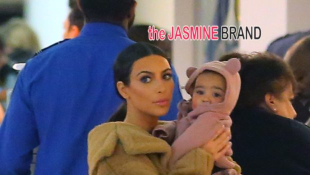 Kiddie Cuteness: Kim Kardashian & Baby North Share Adorable Airport Moment