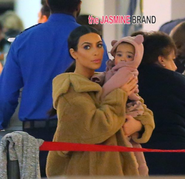Kiddie Cuteness: Kim Kardashian & Baby North Share Adorable Airport Moment