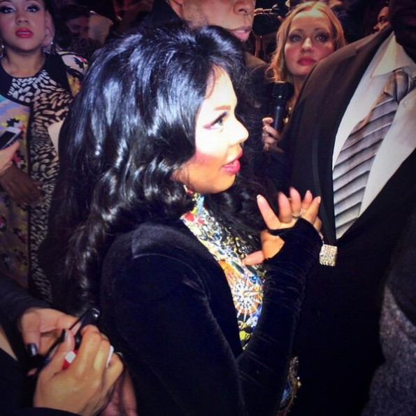 lil kim-pregnant-new york fashion week 2014-the jasmine brand