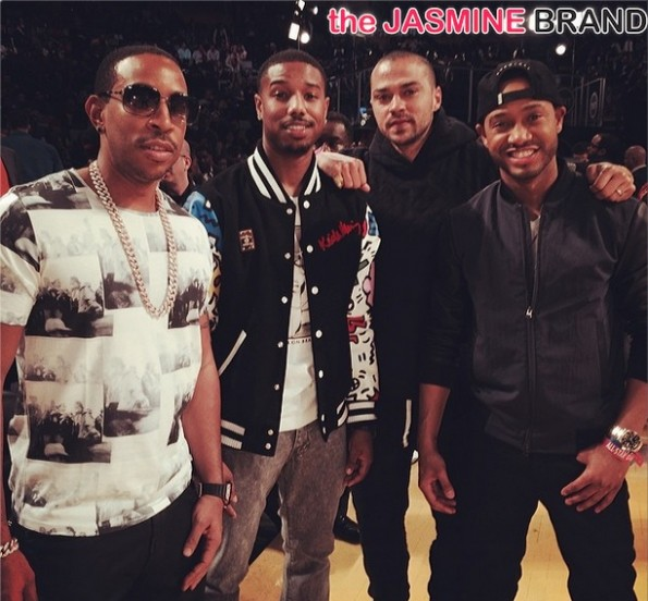 ludacris-michael b jordan-jessie willias-terrence jenkins-celebs all star weekend 2014-the jasmine brand