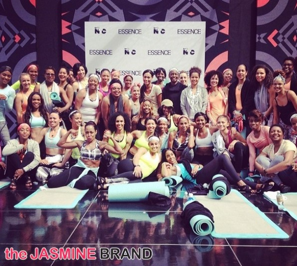 michelle williams-group shot-yoga-essence red carpet-move more-world fit for kids 2014-the jasmine brand