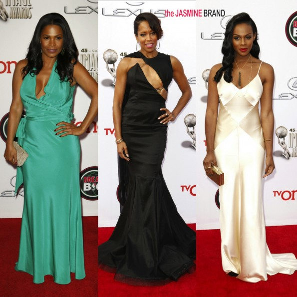 nia long-regina king-tika sumpter-45th annual NAACP Image Awards 2014-the jasmine brand