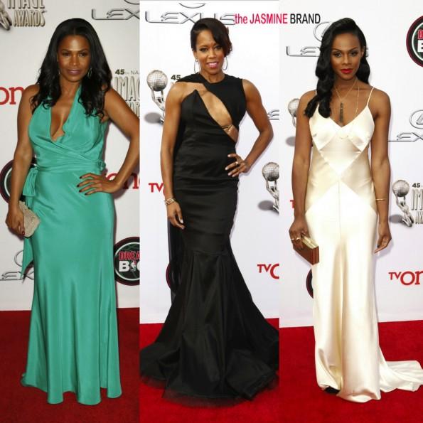 nia long-regina king-tika sumpter-45th annual NAACP Image Awards 2014-the jasmine brand
