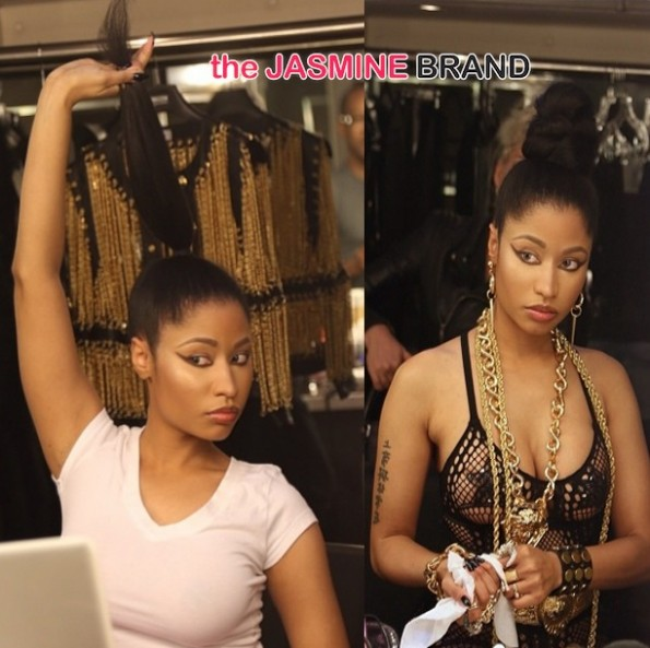 nicki minaj-no weave-natural hair-the jasmine brand