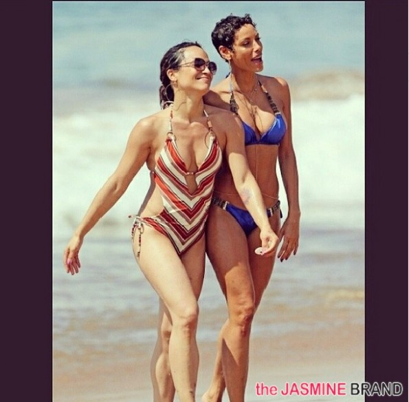 nicole murphy bikini-hollywood exes-film in hawaii 2014-the jasmine brand
