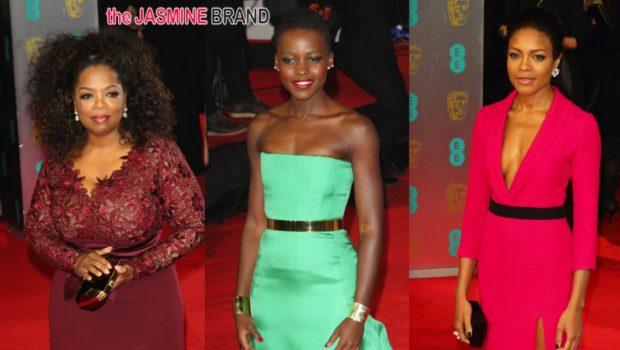 BAFTA Red Carpet Looks: Oprah Winfrey, Lupita Nyong'o, Naomie Harris + Complete List of Winners!