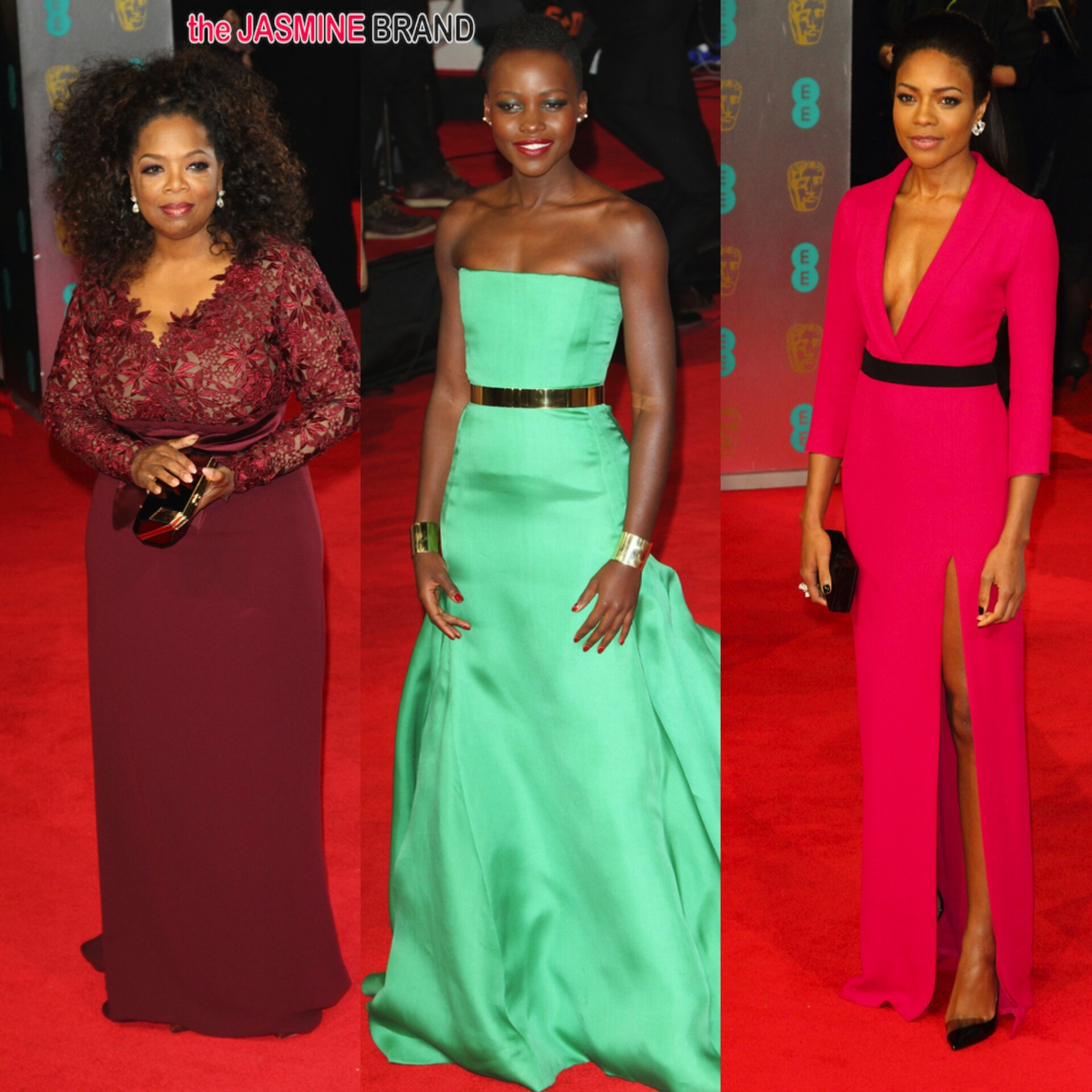 Bafta Red Carpet Looks Oprah Winfrey Lupita Nyong O