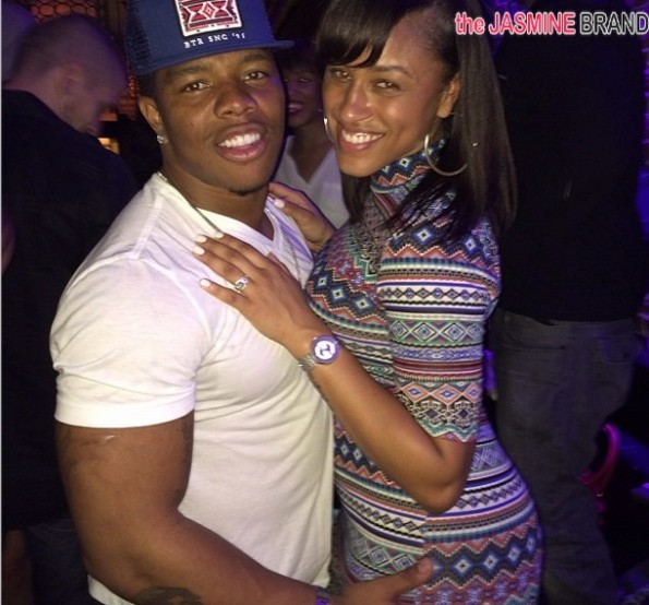 ray rice-alleged domestic violence-fiancee janay palmer 2014-the jasmine brand