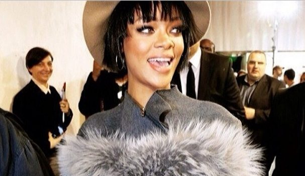 Rihanna Brings Nipples & Fur to Paris Fashion Week