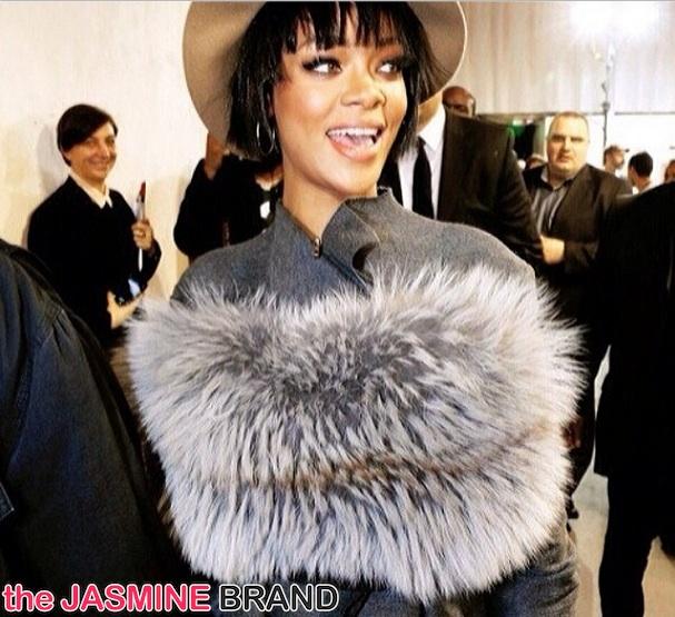Rihanna Brings Nipples & Fur to Paris Fashion Week
