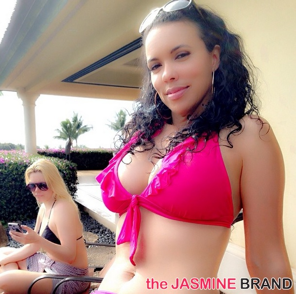 shamicka lawrence bikini-hollywood exes-film in hawaii 2014-the jasmine brand