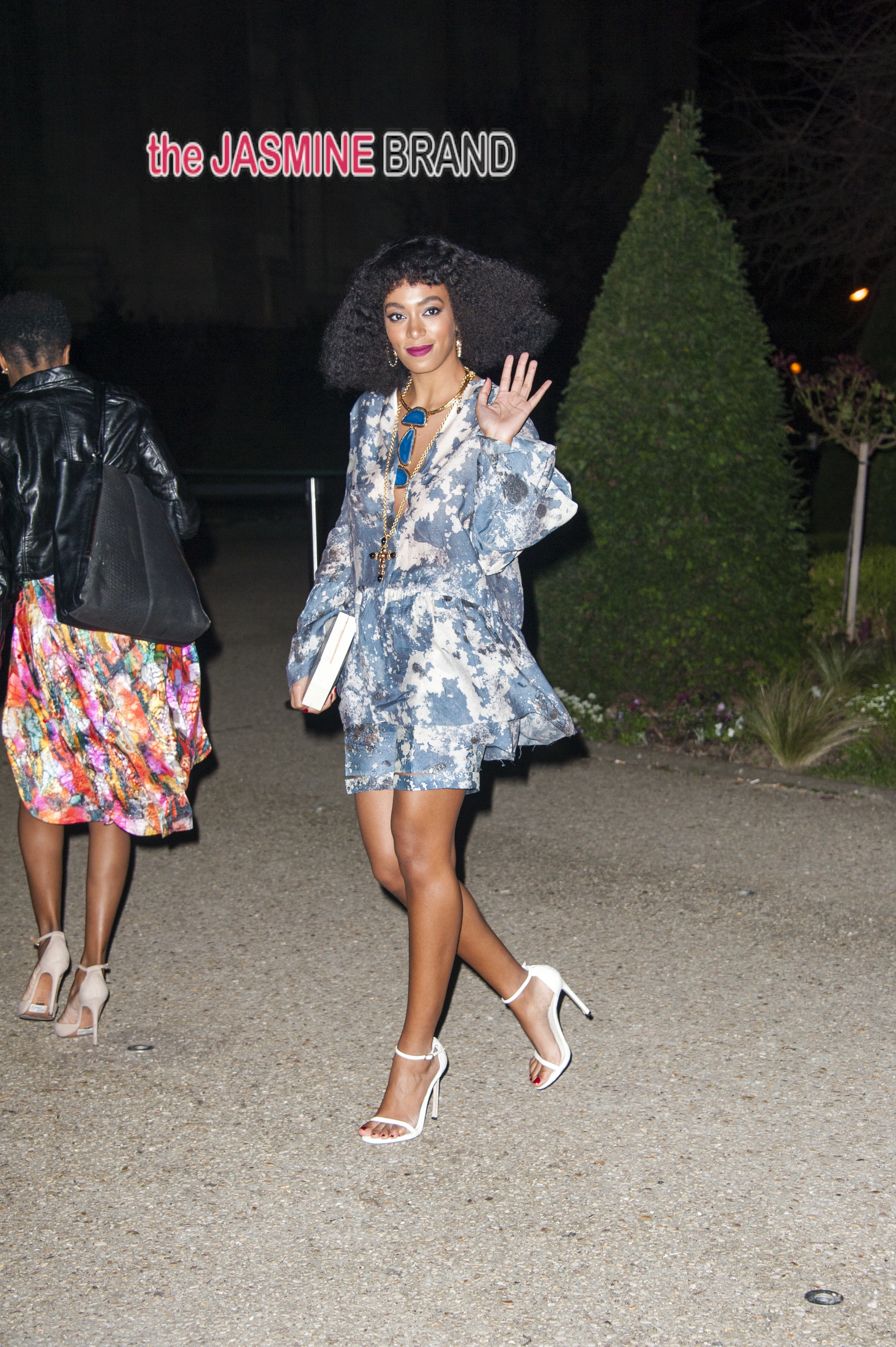 Celebrities arrive at the H&M Fashion Show at the Grand Palais in Paris