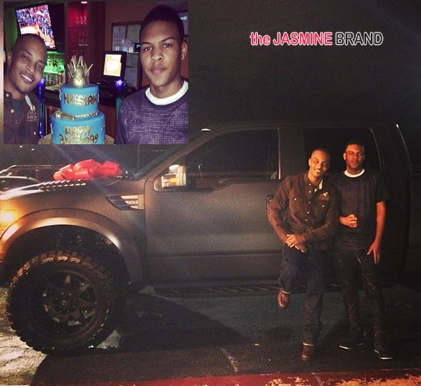 [Photos] Rapper T.I. Buys 14-Year-Old Son New Car For Birthday
