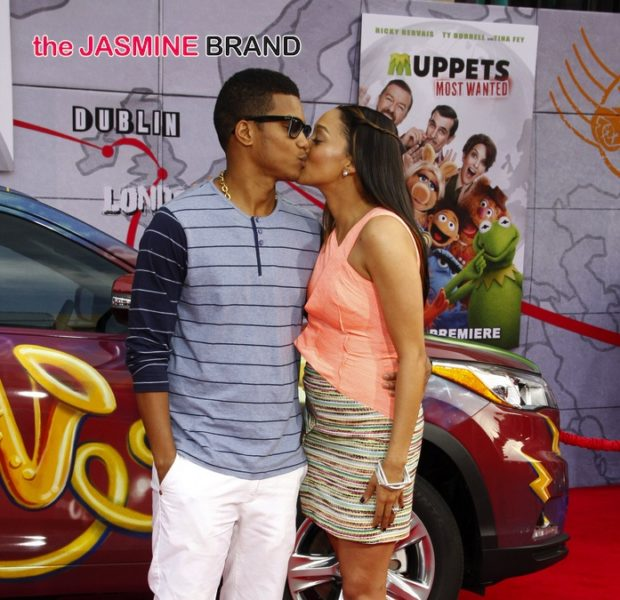 Red Carpet Smoochin': Tia Mowry & Hubby Get Fresh At 'Muppets Most Wanted' Premiere + Terry Crews & Fam Attend