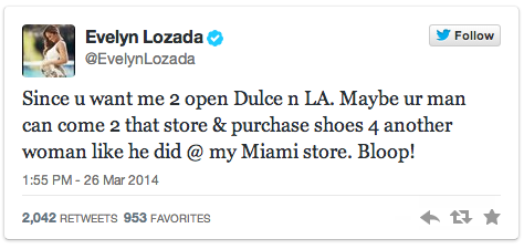Evelyn Lozada Tweets to Wendy