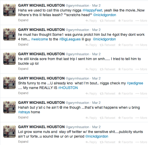 Gary Houston-Tweets-Nick Gordon Fight-The Jasmine Brand