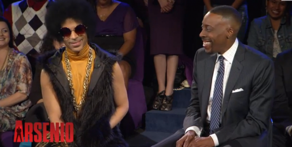 Prince on the Arsenio Hall Show circa 2014