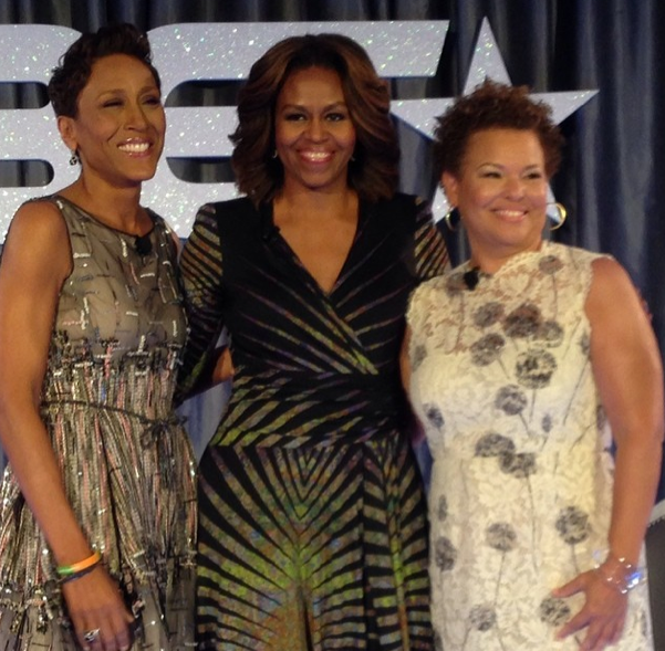 [Photos] First Lady Michelle Obama, Gabrielle Union & More Celebs Attend BET's Leading Women Defined Conference