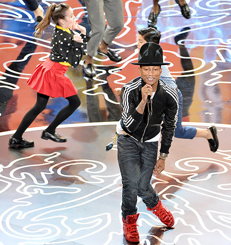 [WATCH] Pharrell Williams Brings 'Happy' Performance to Oscars
