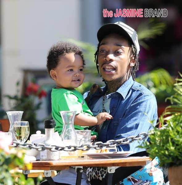 Kiddie Cuteness: Amber Rose, Wiz Khalifa & Baby Sabastian's Adorable Cheeks Go Lunchin'
