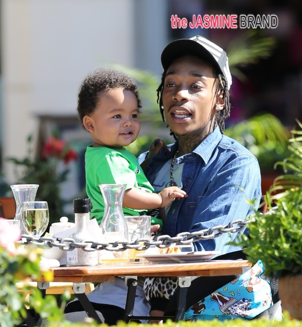 Wiz Khlifa, wife Amber Rose and baby boy Sebastian spotted at lunch in Calabasas