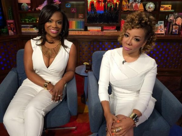 Tameka Cottle-Kandi Burruss-WWHL-The Jasmine Brand