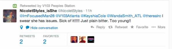 V103 Atlanta Tweet