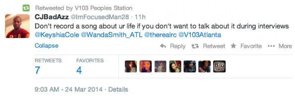 V103 AtlantaTweet