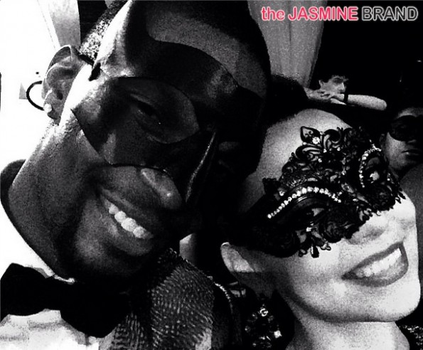 adrienne bosh mask selfie-christopher bosh-30th birthday-cirquedunoir 2014-the jasmine brand