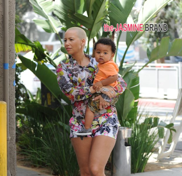 Kiddie Cuteness! Amber Rose And Baby Sabastian Spotted in LA