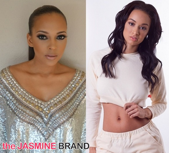basketball wives la-draya michele-sundy carter-fight at pre oscars party-the jasmine brand