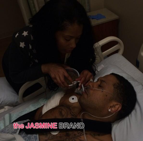 benzino-fiancee releases hospital photo-the jasmine brand