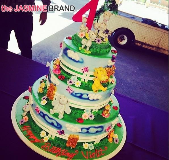 cake-christina milian-daughter violet 4th birthday 2014-the jasmine brand
