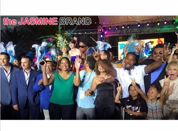 cast and kids-rio 2 premiere-miami-after party concert-the jasmine brand