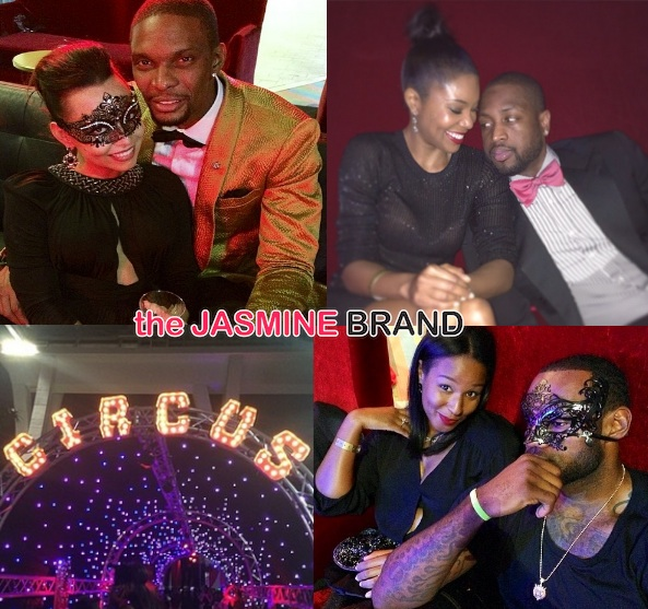 christopher bosh-30th birthday bash-lebron james-dwyane wade-savannah james-gabrielle union-the jasmine brand