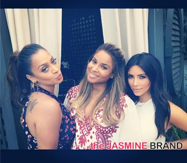 [Photos] Kim Kardashian, Kris Jenner & Lala Anthony Attend Ciara's Baby shower + Baby's Name Revealed ?